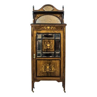 19th Century Rosewood Cabinet with Intarsias For Sale