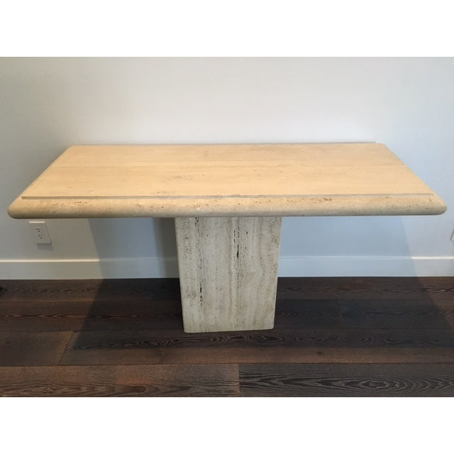 Italian Travertine Console Table - Image 2 of 3