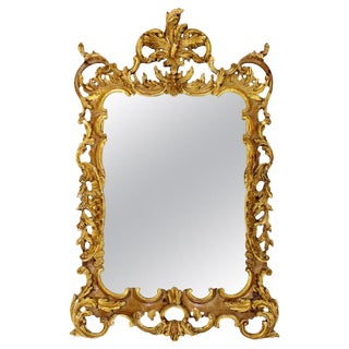 La Barge Mid-Century Modern Large Chippendale Rococo Gold Gilt Mirror For Sale