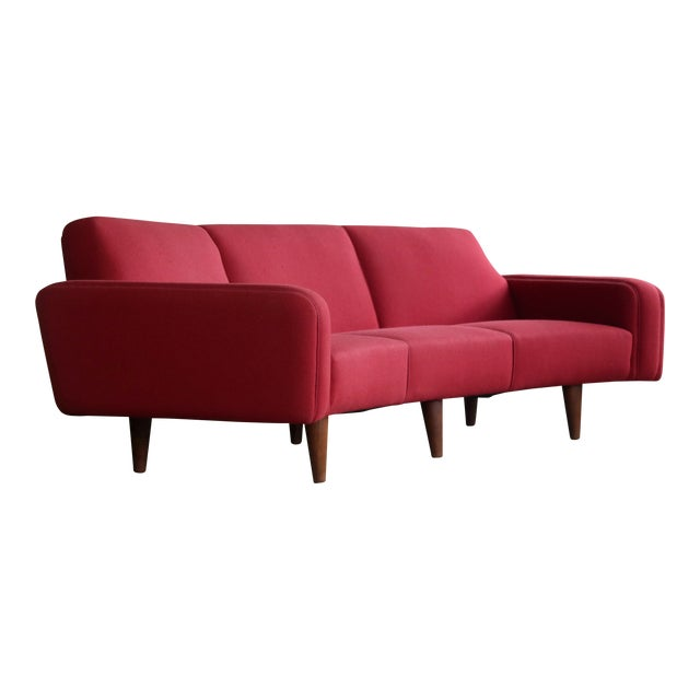 Superb Large Danish 1960\'s Illum Wikkelso Designed Curved Sofa Model ...