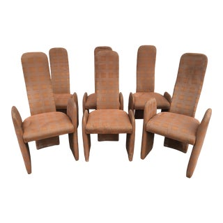 1980s Vintage Saporiti Style Modern Dining Chairs - Set of 6 For Sale