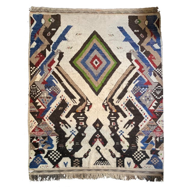 13' X 7' Large Moroccan Rug For Sale - Image 9 of 9