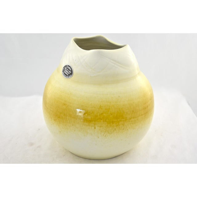 Yellow Ombre Studio Pottery Urn - Image 5 of 7