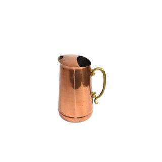 Vintage French Country Copper Water Pitcher For Sale