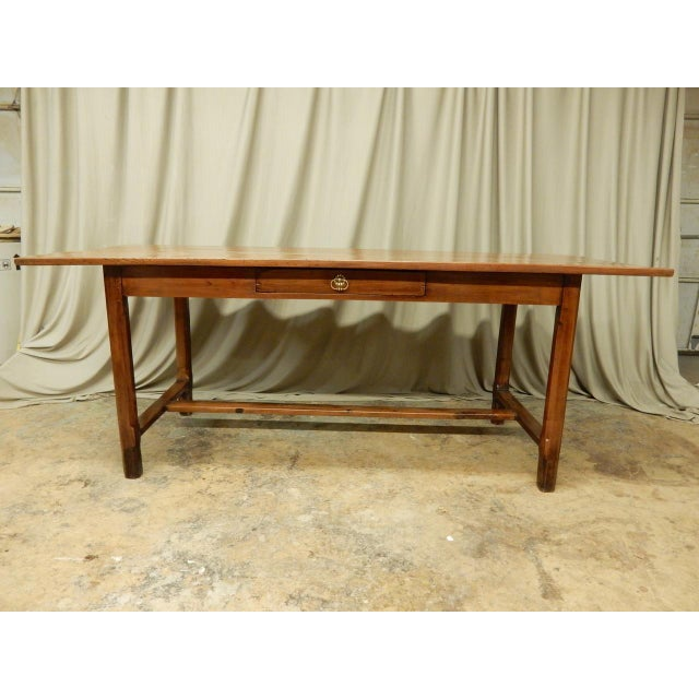 French 19th Century French Walnut Farm Table For Sale - Image 3 of 10