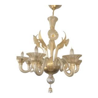 Murano Venetian Glass Chandelier For Sale