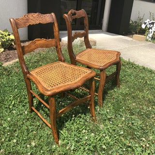 Victorian Caned Seat Chairs - A Pair Preview