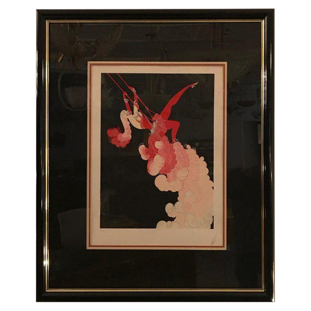 Erte 'French, 1892-1990' the Trapeze For Sale