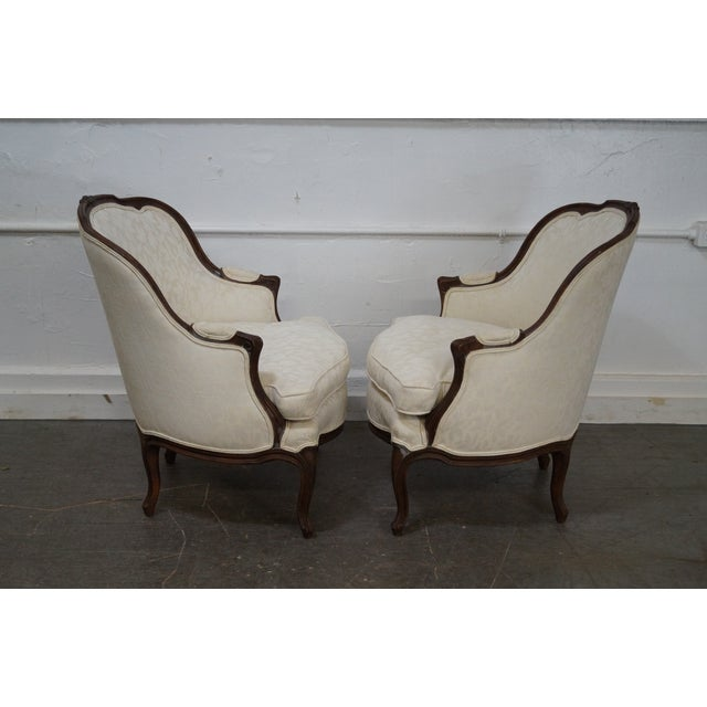 Antique French Louis XV Style Bergere Chairs - Pair - Image 3 of 10