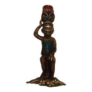 Olivia Riegel Deco Monkey Taper Candlestick For Sale