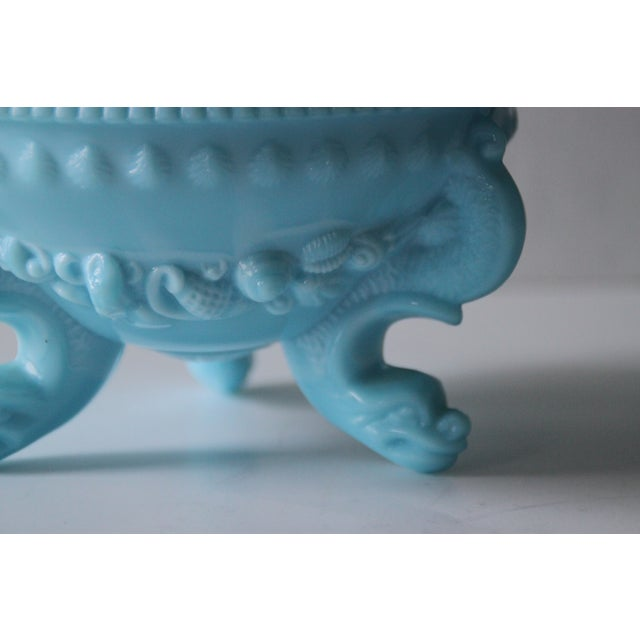 Westmoreland Footed Blue Seashell Candy Dish - Image 4 of 5