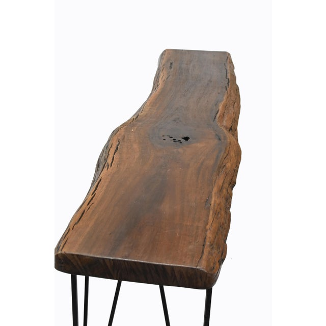 2010s Live Edge Console Table For Sale - Image 5 of 9