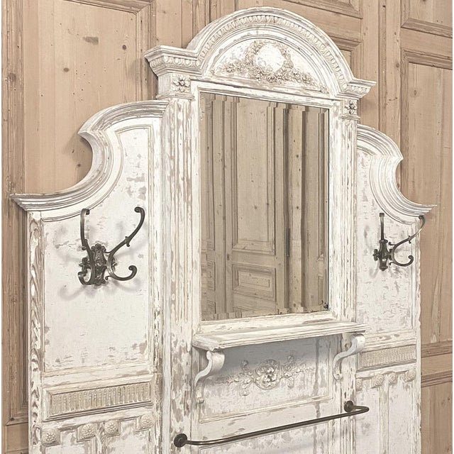 19th Century French Louis XVI Painted Hall Tree For Sale - Image 10 of 11