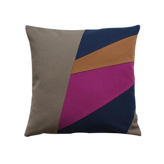Geometric Modern Design Cotton Pillow - Image 1 of 2
