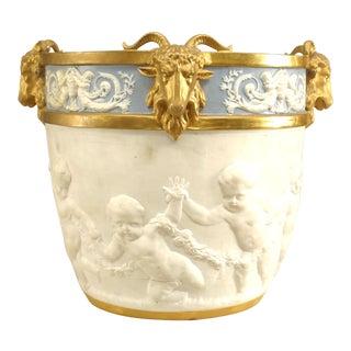 Louis XVI Sevres Porcelain Pot For Sale
