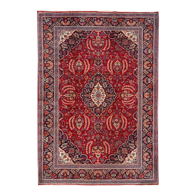"Apadana - Vintage Persian Tabriz Rug, 9'11"" x 13'7"" For Sale"