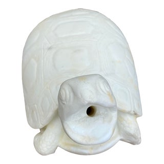 Mid 20th Century Marble Turtle Water Fountain Garden Sculpture For Sale