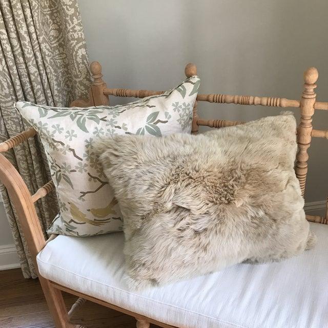 Peruvian Baby Alpaca Fur Pillow - Image 5 of 7