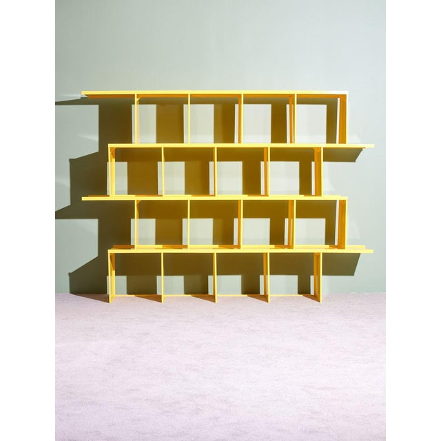 Michael Felix Yellow Powder-Coated Metal Shelves For Sale - Image 10 of 10