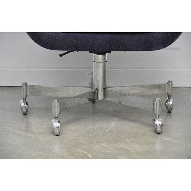 Ward Bennett Desk Chair in Mohair - Image 7 of 7