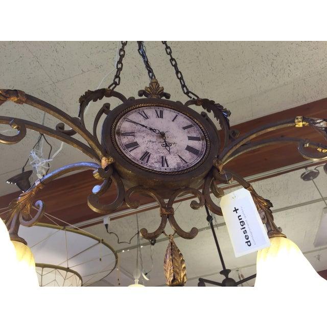 Fine Art Lamps Antiqued Iron Chandelier - Image 9 of 10
