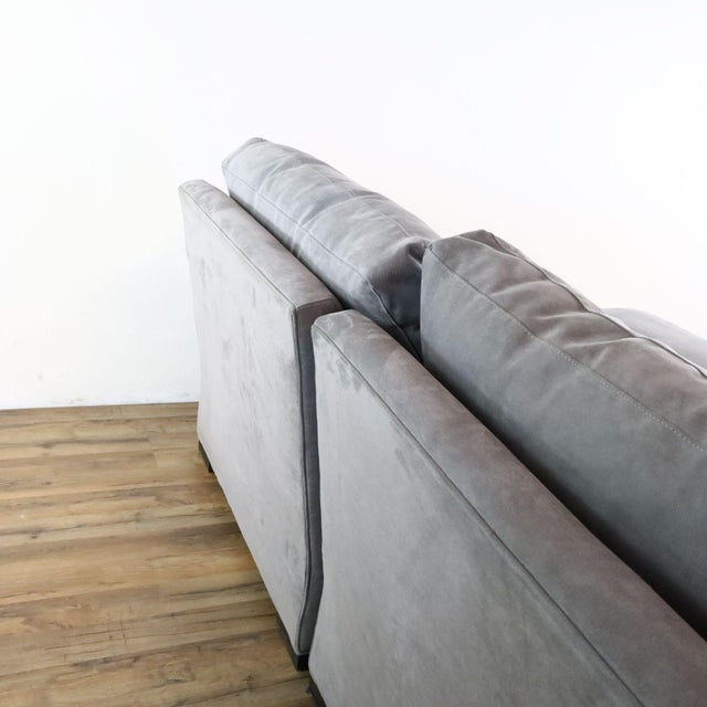 Crate & Barrel Gray Upholstered Sectional Sofa For Sale In San Francisco - Image 6 of 9