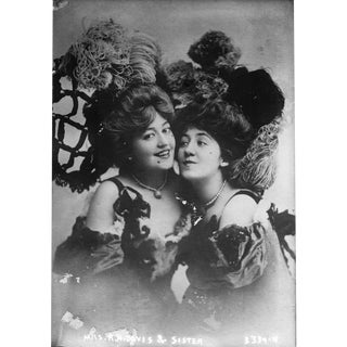 Vaudeville Sisters - Print of Photo From Late 1800's For Sale