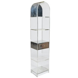 Modern Lucite Domed Shelf Etagere For Sale