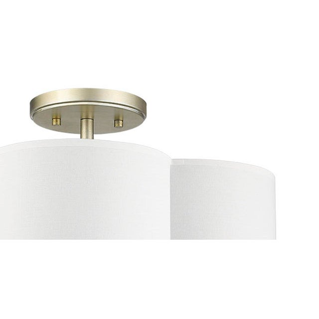 Traditional The Quatrefoil 3 Light Semi-Flush Ceiling, Champagne Gold For Sale - Image 3 of 4