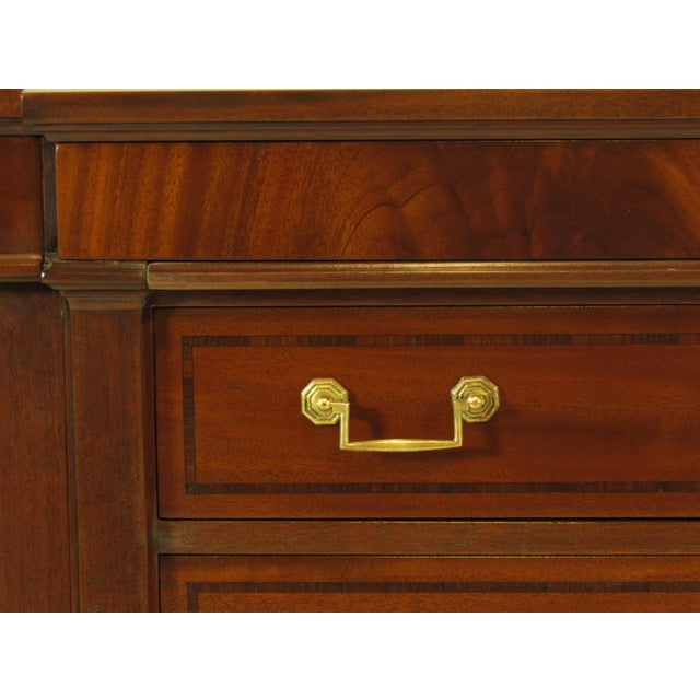Regency Style Inlaid Mahogany Sideboard For Sale - Image 4 of 9