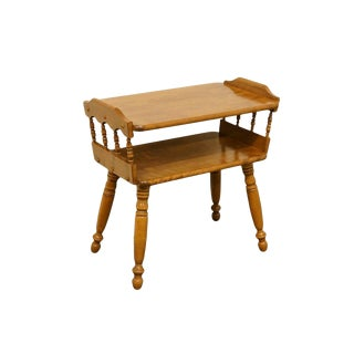 20th Century Traditional Ethan Allen Heirloom Maple Chairside End Table For Sale