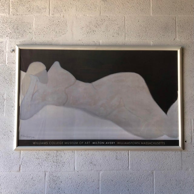 1980s Rare Milton Avery 'Reclining Blonde' Framed Lithograph Print Exhibition Poster. For Sale - Image 5 of 12