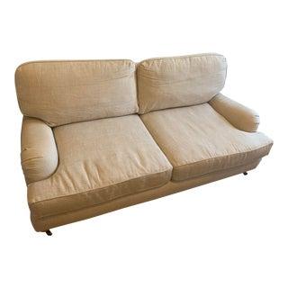 21st Century Restoration Hardware English Roll Arm Upholstered Sofa For Sale