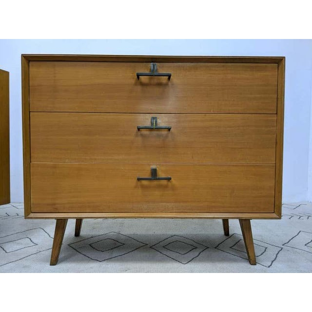 Brown Pair of Mid-Century Modern Bachelor Chest, Commodes or Dressers For Sale - Image 8 of 13