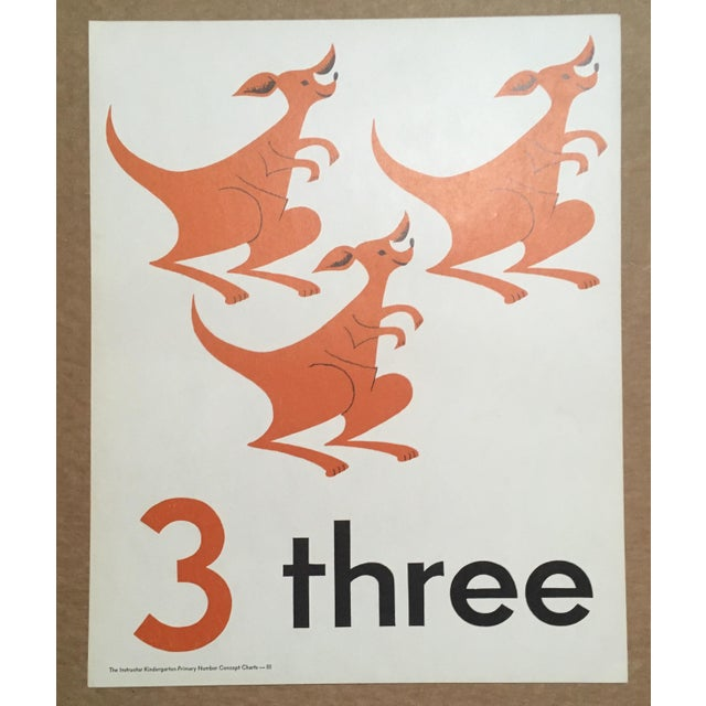 This charming poster is one of series on numbers published by F. A. Owen in a trademark Mid Century graphic style. Three...