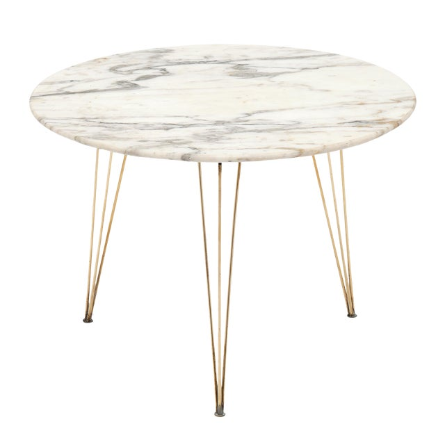 Vintage Mid-Century Italian Marble Top Table For Sale