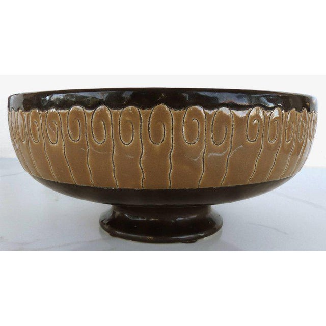 Longwy Primavera Art Deco Footed Bowl, France For Sale - Image 4 of 10