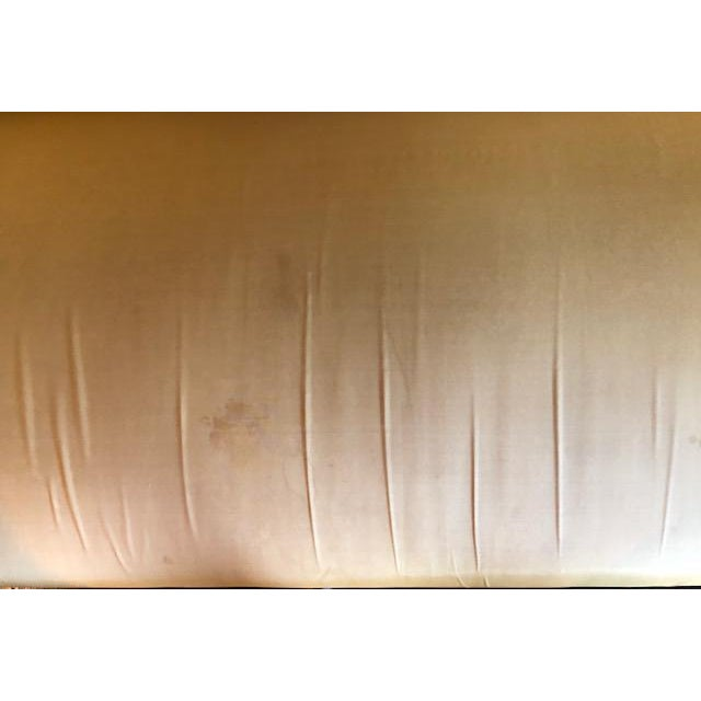 Yellow Silk Empire Settee For Sale - Image 11 of 12
