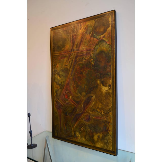 Bernhard Rohne Brass Acid Etched Wall Art For Sale - Image 10 of 11
