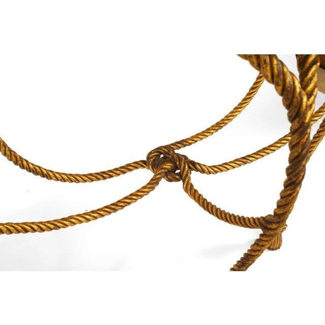 Hollywood Regency Rope and Tassel Design Console Table For Sale - Image 4 of 6