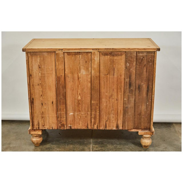 Ceramic Bleached Pine Victorian Chest of Drawers For Sale - Image 7 of 8