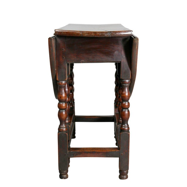 Fruitwood William and Mary Fruitwood Gateleg Table For Sale - Image 7 of 8
