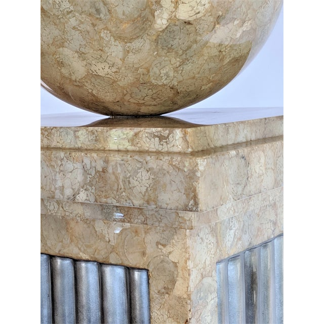 Enrique Garcel Tessellated Stone Pedestal For Sale - Image 5 of 12
