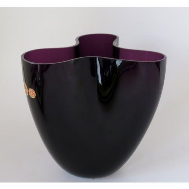 Per Lutken Holmegaard Per Lütken Purple Glass Vase For Sale - Image 4 of 10