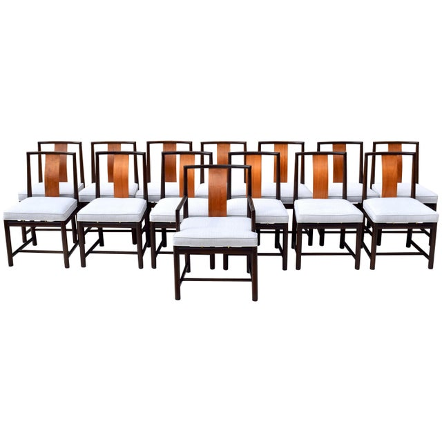 1960s Vintage John Stuart Dining Chairs- Set of 14 For Sale - Image 13 of 13