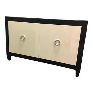 Bausman Black & White Alder Wood Buffet With Two Doors