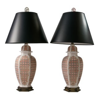 Ceramic Table Lamps - A Pair For Sale