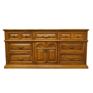 "20th Century Italian American Drew 73"" Triple Door Dresser For Sale"