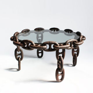 Vintage Iron Ship Chain Coffee Table Preview