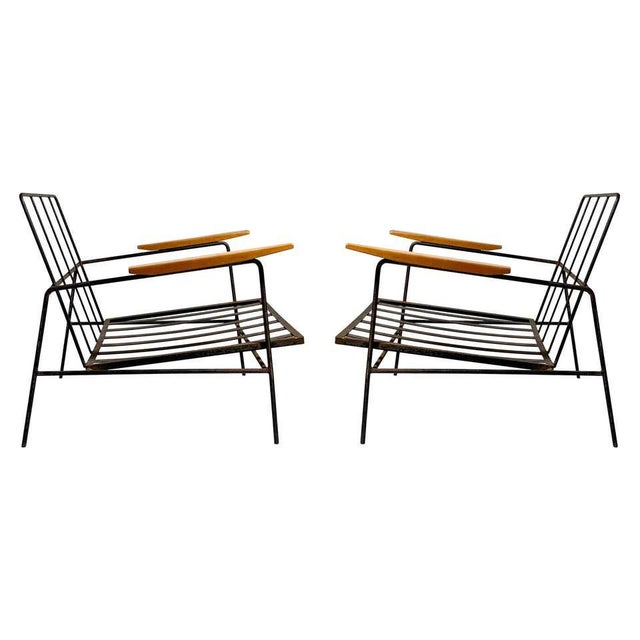 Metal Vintage Modern Richard McCarthy Lounge Chair Frames- a Pair For Sale - Image 7 of 7